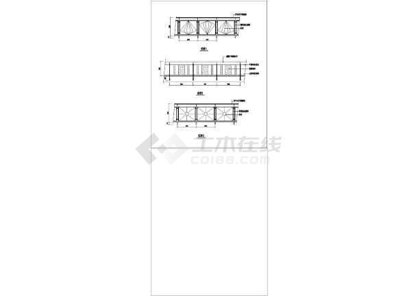 各种类型不同风格的铁艺栏杆构造详图-图二