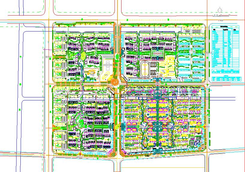 某居民小区给排水管线综合布置图(含指标)图片1