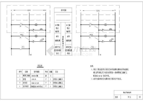 某电厂多种设备电气控制原理图设计-图一