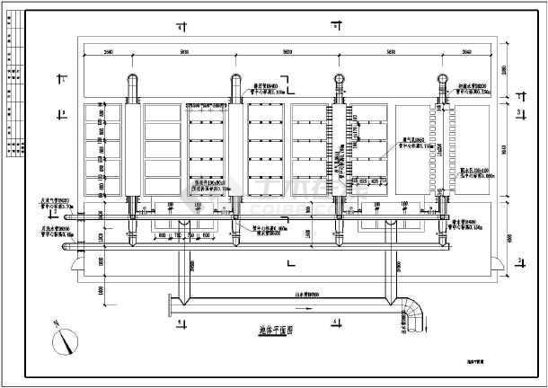 城市污水厂D型滤池水处理工程构筑物图纸-图2