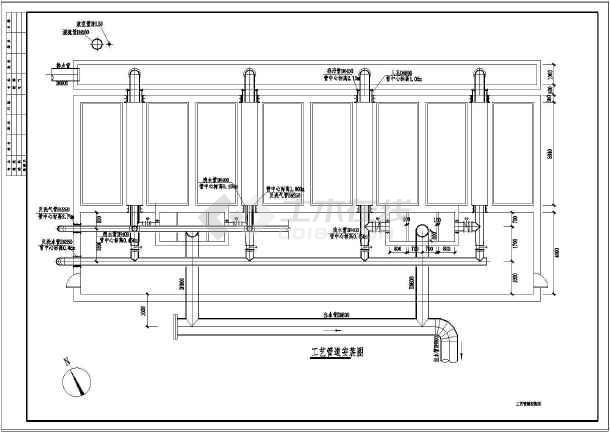 城市污水厂D型滤池水处理工程构筑物图纸-图3