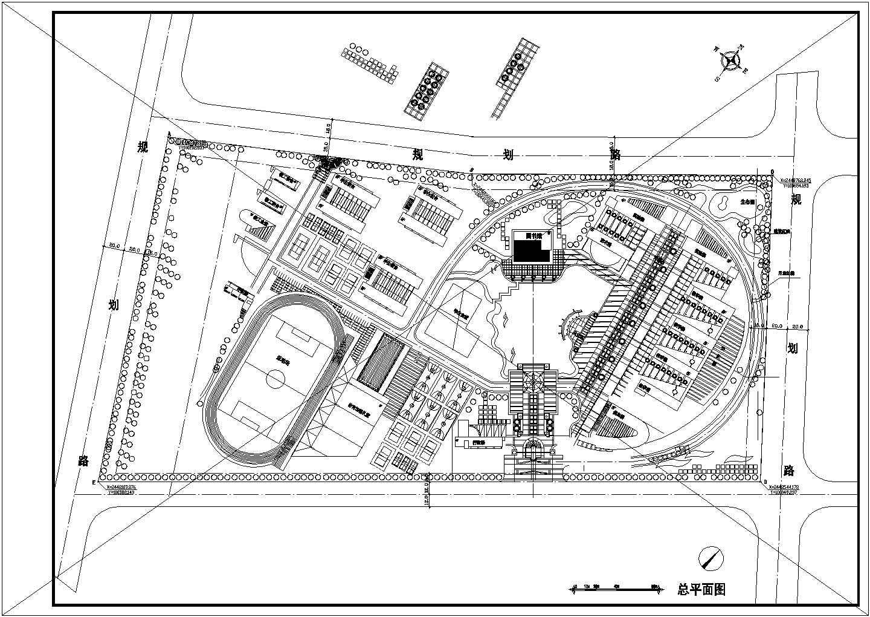 【安徽省】某地学校总平面图规划图图片1