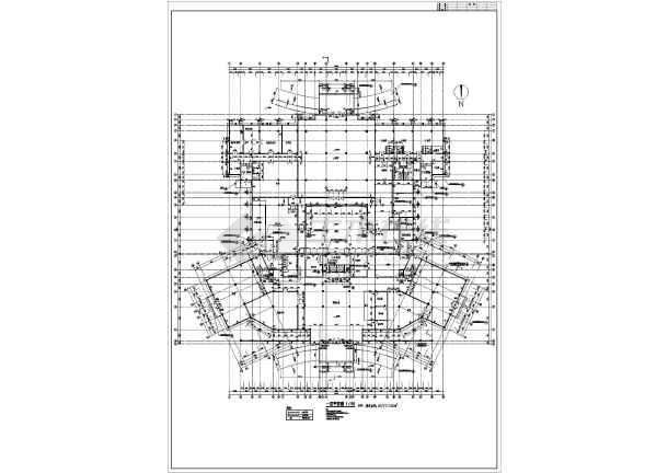 某宾馆的详细建筑方案图纸(共5张)-图2