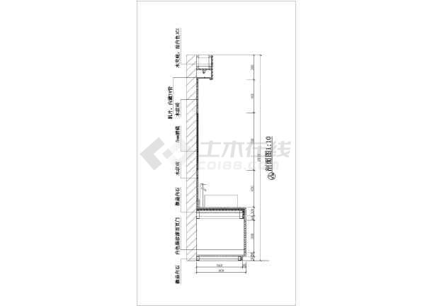 家庭卫生间装修设计节点详图(共2张)-图1