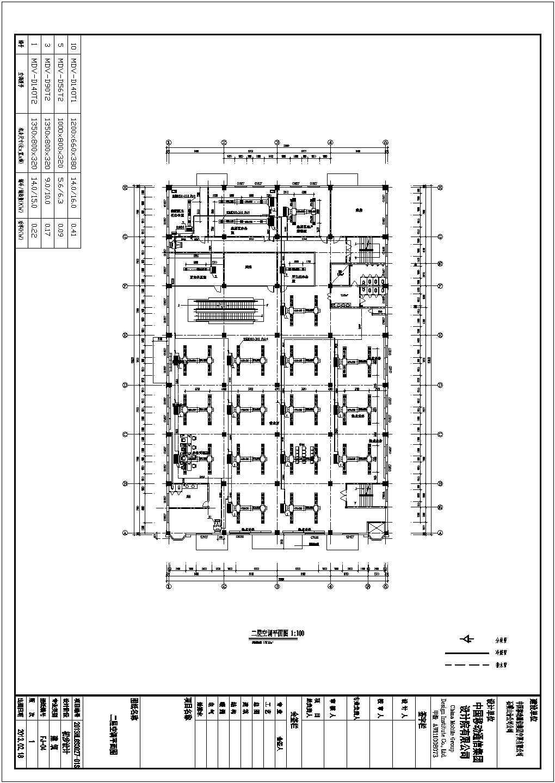 某四层办公楼VRV风机盘管及新风排风空调系统初设图(15张)图片2