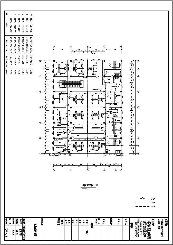 某四层办公楼VRV风机盘管及新风排风空调系统初设图(15张)图片3