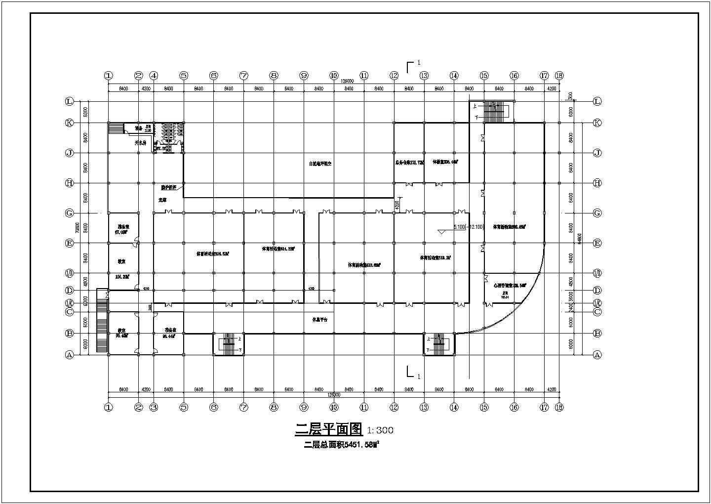 某学校总平面图及体育运动场建筑设计方案图图片3