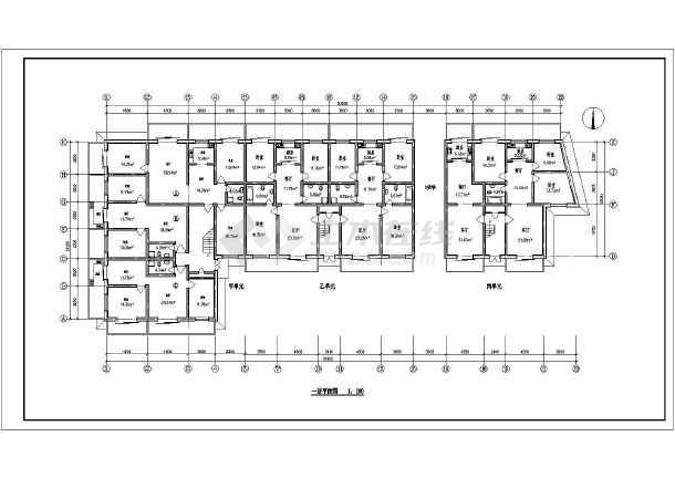 住宅户型方案施工图(含建筑面积)-图一