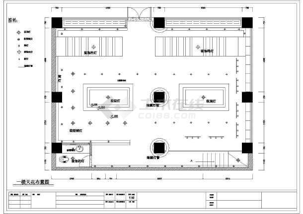 点击查看二层中式茶馆品茶室茶吧装修cad设计施工图纸第1张大图