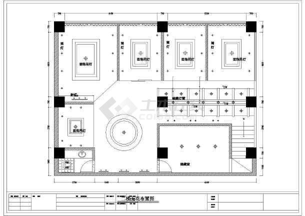 二层中式茶馆品茶室茶吧装修cad设计施工图纸-图2