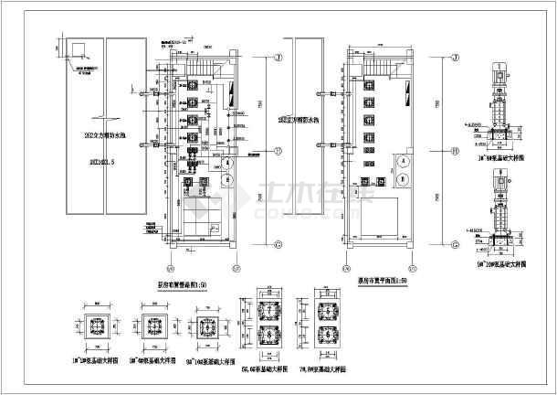 泵管价格_【管道布置图】消防泵房管道布置图平面图剖面图管网示意图_cad ...