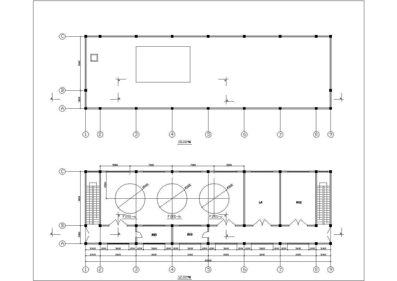 食品饮料厂发酵车间设备布置图(年产5000t)图片1