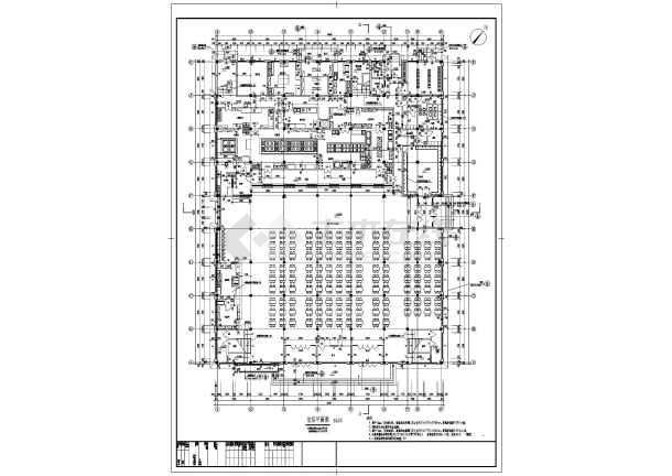 最新的6700平方米学校框架结构三层教师食堂全套建筑结构cad施工图_含楼梯设计_食堂设计cad_楼梯详图_餐厅设计cad-图2