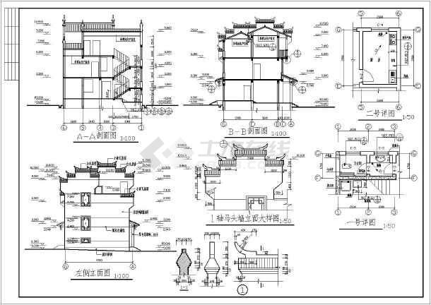 湖南古丈县栖凤大道拆迁安置房建筑设计方案图