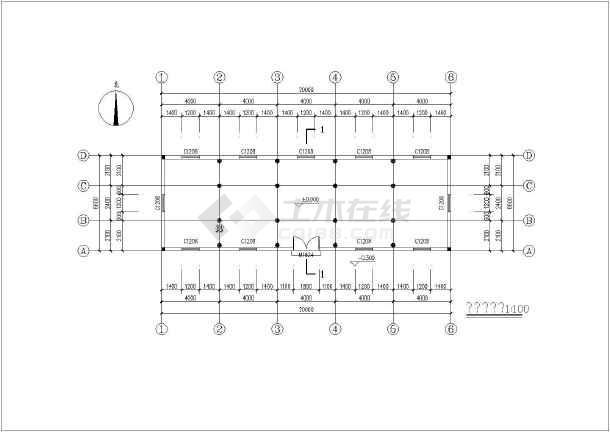 点击查看南方某地纯木结构建筑结构图第2张大图