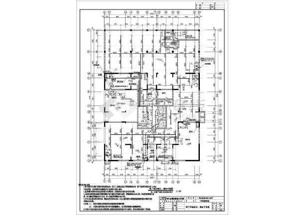 某小区十七层框架结构住宅楼给排水消防施工图图片
