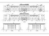 某车辆管理所三层框架结构办公楼建筑方案图图片1