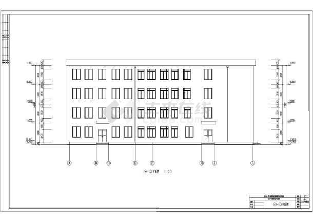 某中学教学楼方案设计图纸 课程设计图片