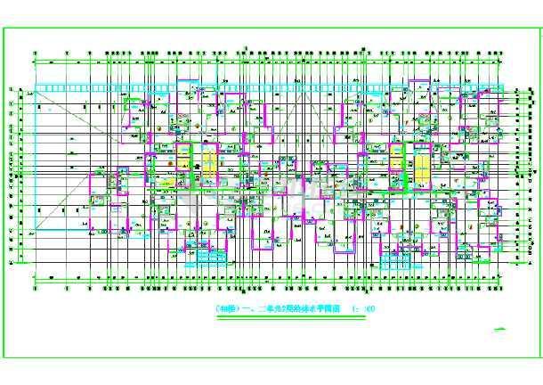 【重庆】市某住宅楼给排水设计图纸-图1