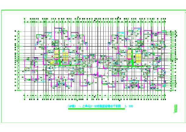 【重庆】市某住宅楼给排水设计图纸-图2