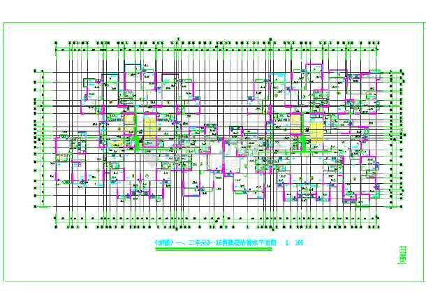 【重庆】市某住宅楼给排水设计图纸-图3