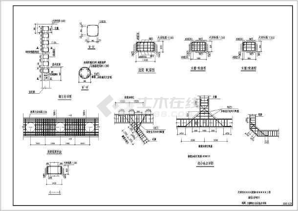 天津某医院工程基坑支护施工图和节点详图-图1
