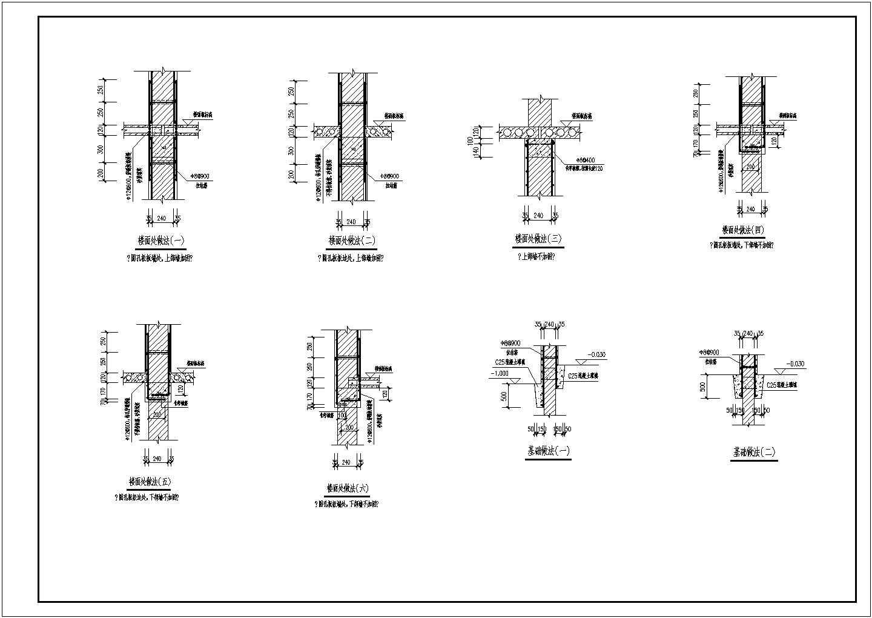 某砌体结构建筑墙体及洞口加固节点详图图片3
