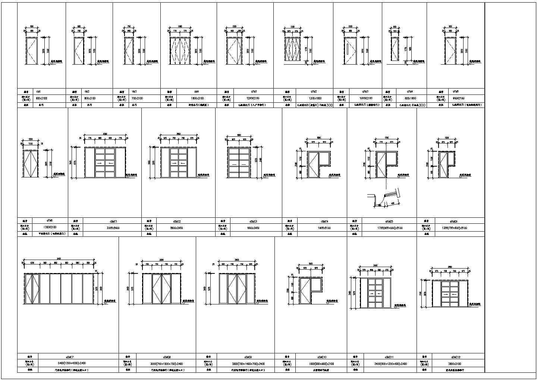 各种门窗大样图(CAD版本、1:1尺寸)图片3