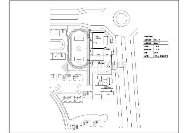 某小学教学楼建筑设计施工图 总图图片