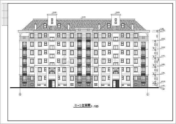 住宅平立剖面施工图(含建筑面积)-图二