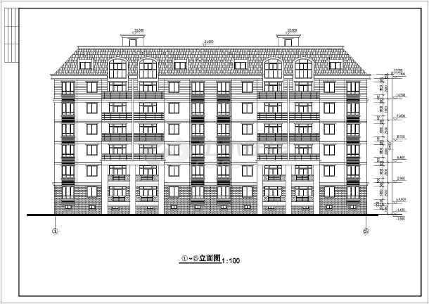 住宅平立剖面施工图(含建筑面积)-图一