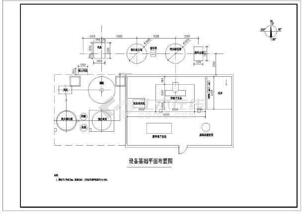 陕西某企业污水治理车间废气处理图纸-图3