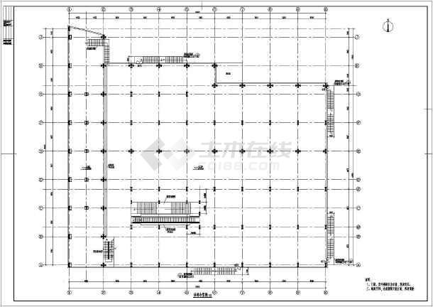 某商场钢结构加固加层改造施工图-图2