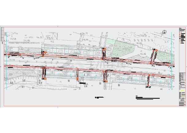 全套核电商业街改造工程现状地形总图-图1