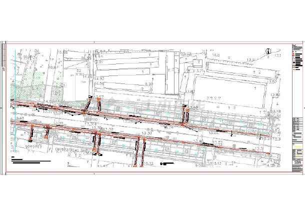 全套核电商业街改造工程现状地形总图-图2
