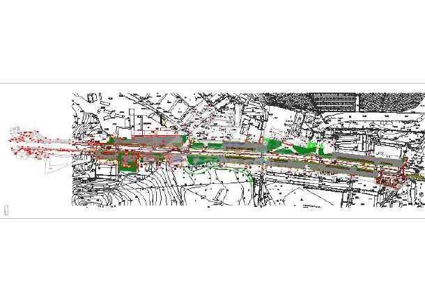 全套核电商业街改造工程现状地形总图-图3