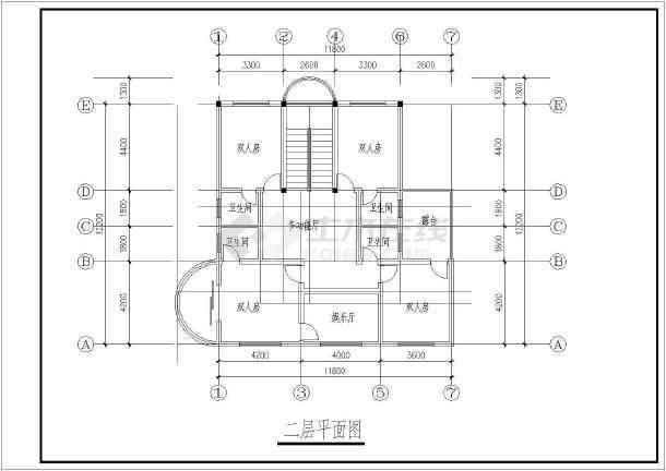 【南京】某多层别墅平面建筑方案图-图1