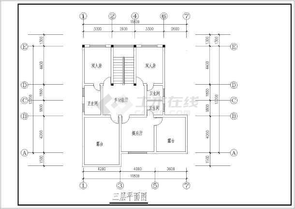 【南京】某多层别墅平面建筑方案图-图2