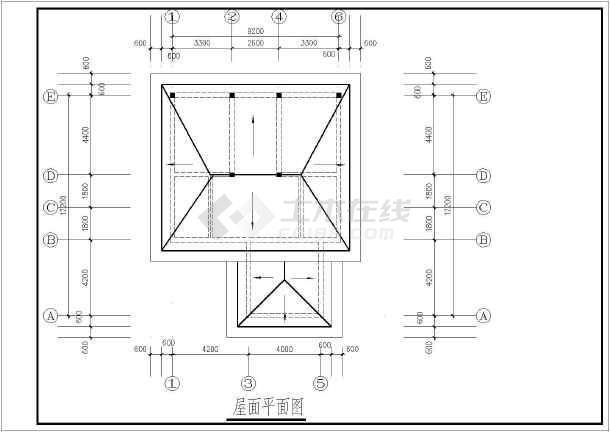 【南京】某多层别墅平面建筑方案图-图3