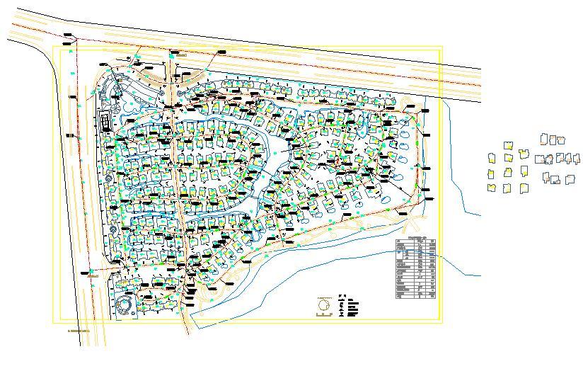 某地小型嘉源别墅园林景观总规划图图片1