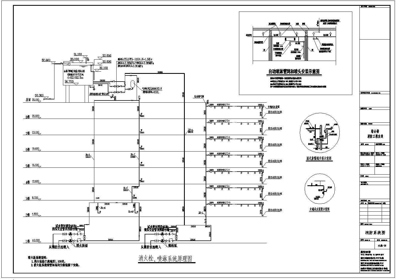 某地8层综合楼消火栓自动喷淋系统图图片1