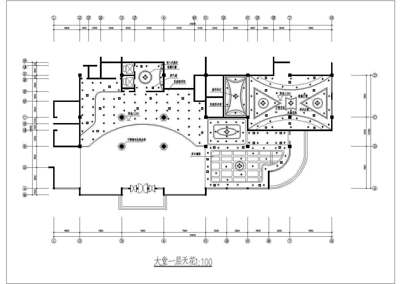 某地西餐厅的建筑一层平面图(共6张)图片2