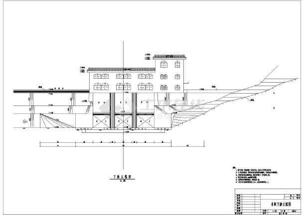 点击查看某水利工程水闸结构布置及结构钢筋图第1张大图