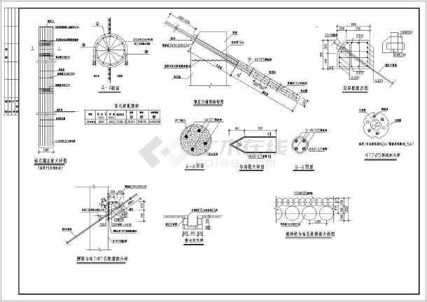 【广州】某15米深泵站基坑支护施工图-图1