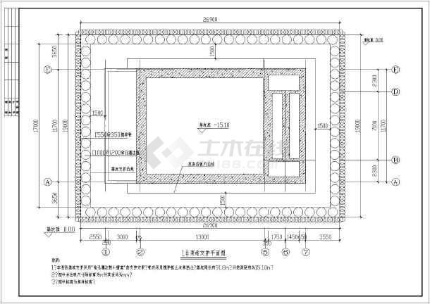 【广州】某15米深泵站基坑支护施工图-图2