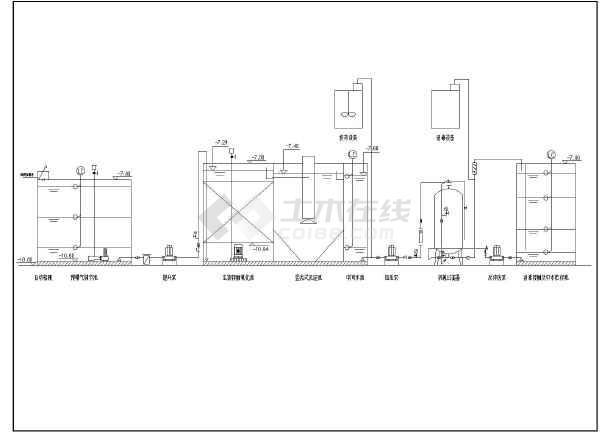 点击查看某建筑楼杂用水接触氧化法处理中水回用第1张大图