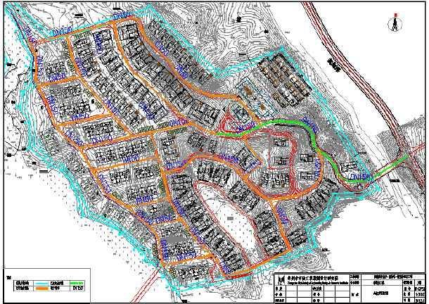 某山地别墅市政给水排水图纸-图1
