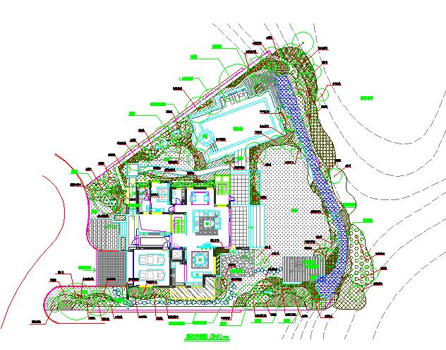 沿海某地城市别墅景观绿化方案设计图图片1