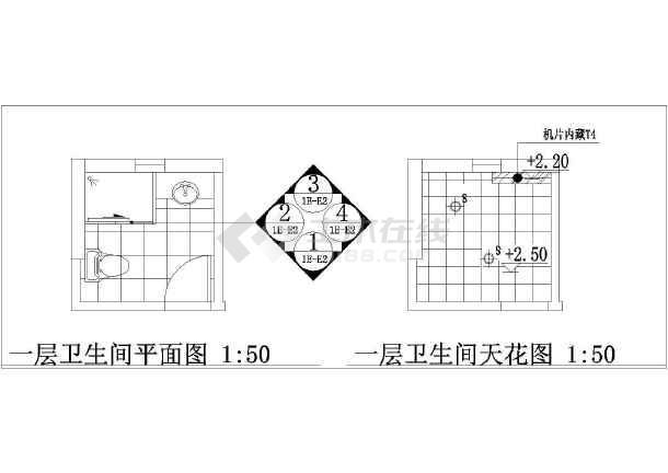 家庭卫生间装修设计详图(共3张)-图1