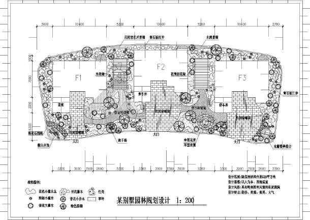 某私家别墅花园庭院园林规划设计CAD图纸-图一